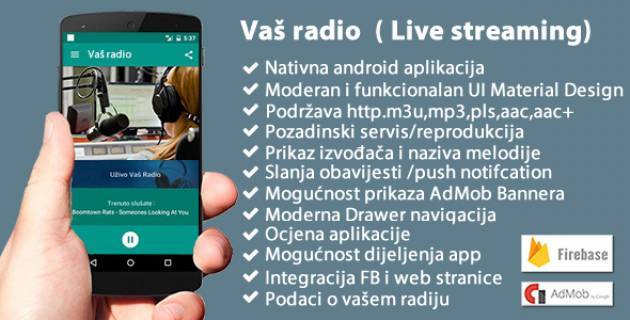 Android aplikacija Vaš Radio